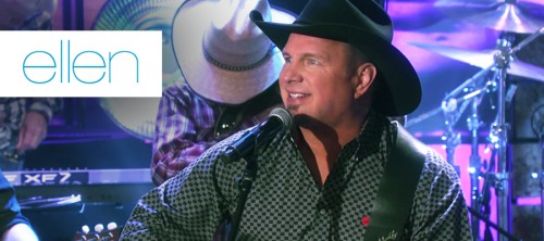 GARTH DEBUTS NEW SINGLE ON ELLEN