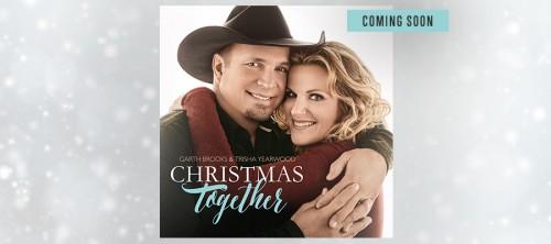 GARTH & TRISHA REVEAL XMAS ALBUM COVER